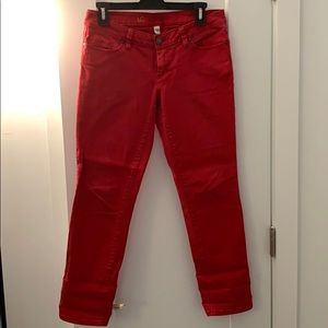 Red Straight Cut Jeans